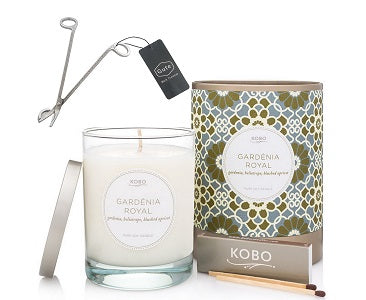 Kobo Candles Gardenia Soy Candle & Gute Wick Cutter (2 Piece Bundle)