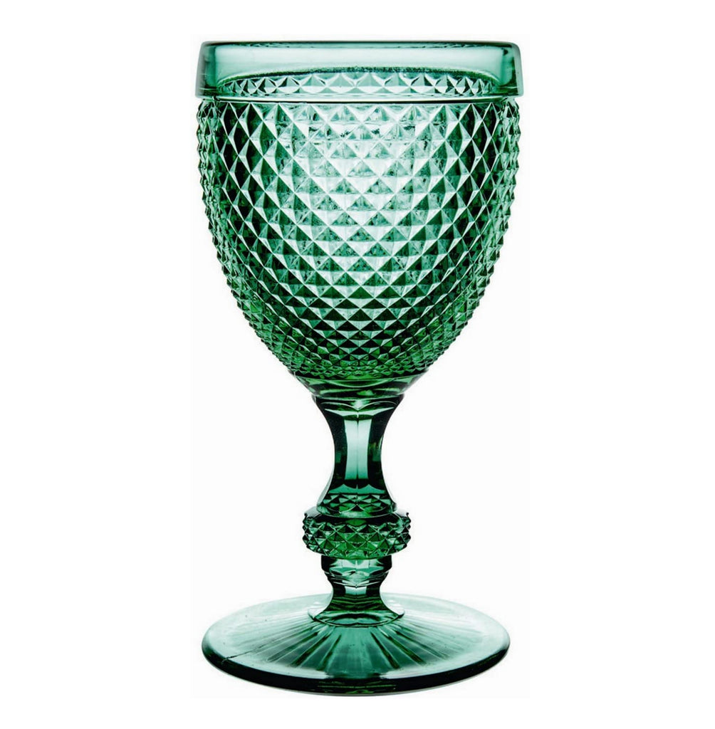 Vista Alegre Set Of 4 Water Goblets Green - Bicos