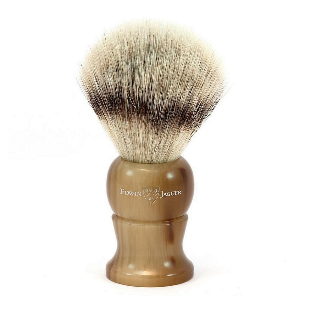 Edwin Jagger Imitation Horn Super Badger Shaving Brush