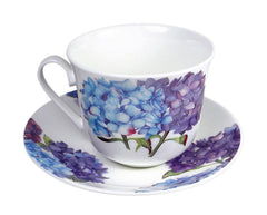 Roy Kirkham Jumbo Breakfast Cup and Saucer in Hydrangea Design