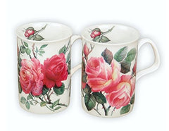 Roy Kirkham English Rose Bone China Tea Mug Set