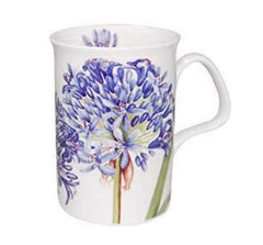 Roy Kirkham Agapanthus Bone China Mug - Blue