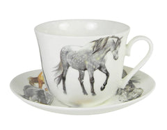Roy Kirkham My Horse Breakfast Teacup and Saucer Set Fine Bone China