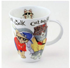 Roy Kirkham Cat Fashion (louise) English Bone China Mug