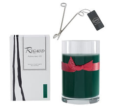 Rigaud Cypres Large Refill Candle and Wick Cutter Bundle (Two Piece Set)