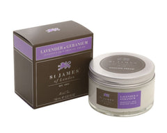 St James of London Shave Cream Jar, Lavender & Geranium, 5.07 Fl Oz
