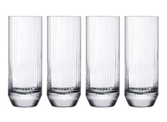 NUDE Glass Big Top Set of 4 High Ball Glasses 10oz Lead-Free Crystal (Set of 4)