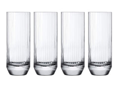 NUDE Glass Big Top Set of 4 Highball Glasses 11.5oz Lead-Free Crystal (Set of 4)