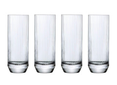 NUDE Glass Big Top Set of 4 High Ball Glasses 14.5oz Lead-Free Crystal (Set of 4)