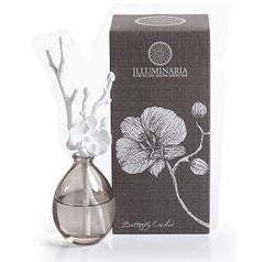 Zodax Illuminaria Porcelain Diffuser, Butterfly Orchid Fragrance