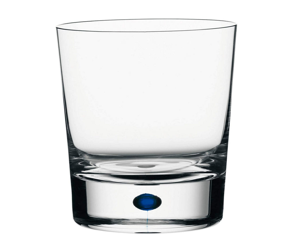 Orrefors 6257441 Intermezzo Double Old Fashioned Glass, Clear/Blue