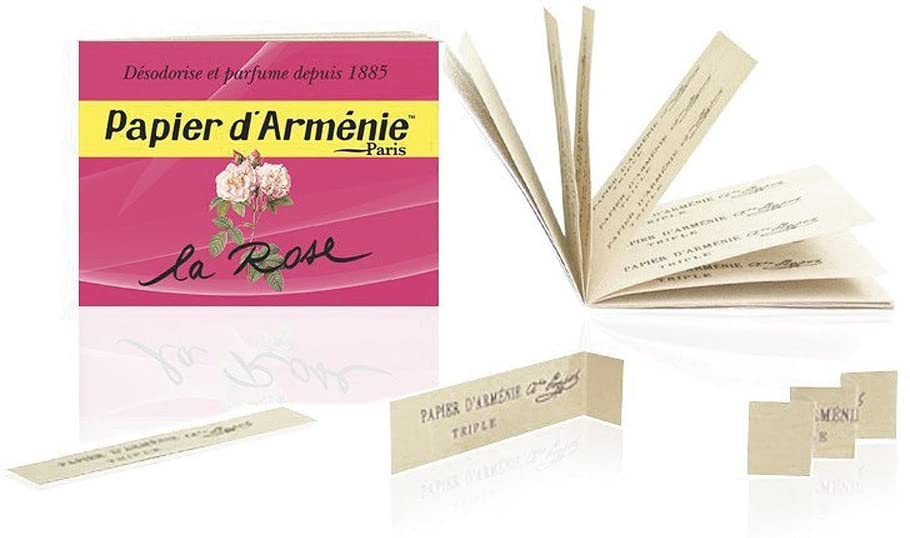 Papier d'Armenie La Rose Burning Papers (1 Book of 12 Sheets)
