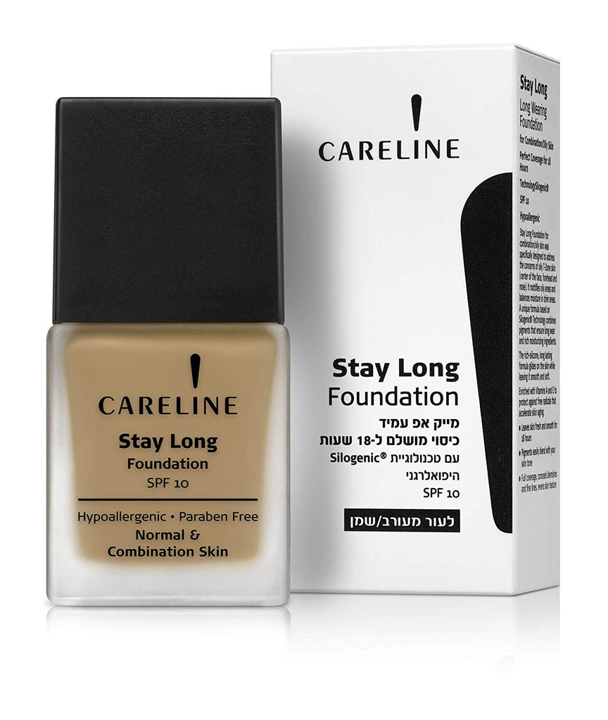 Careline Stay Long Make-up Spf10 Water Proof for 18hrs (605 Pinkish Beige)