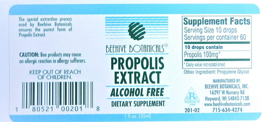 Beehive Botanicals Propolis Extract - Alcohol Free