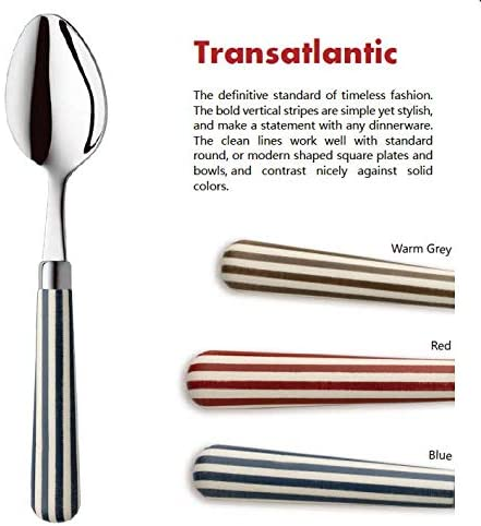 Quid Novi Flatware 16-Piece Stainless Steel Silverware Set Service for 4 - Transatlantic Red Collection