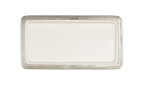 Arte Italica Tuscan Rectangular Tray, Medium, White