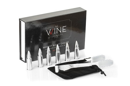 The Wine Savant Bullet Whiskey Stones - Silver