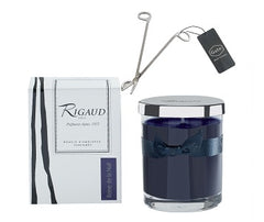 Rigaud Small Model Reine de la Nuit Candle and Wick Cutter Bundle (Two Piece Set)