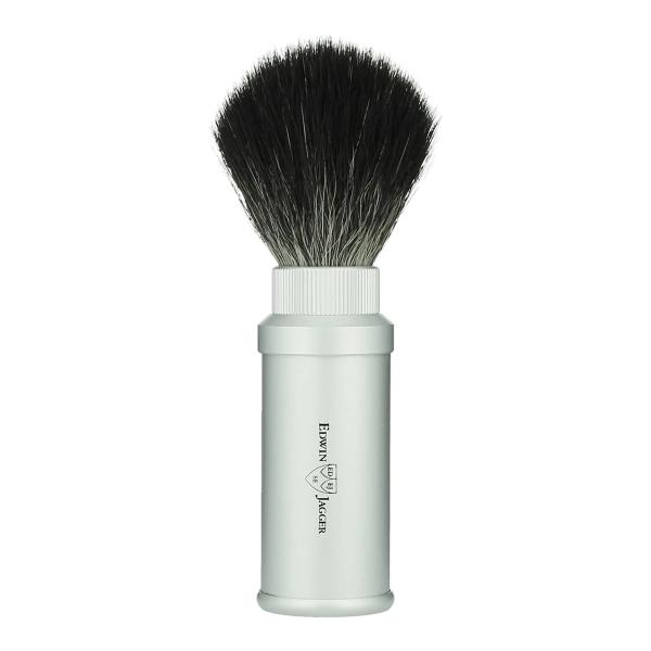 Edwin Jagger Silver Sythetic Travel Shave Brush