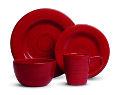 Tag - Sonoma 16-Piece Ironstone Ceramic Dinner Set, A Stylish Way to Bring Bold Color to Your Table, Red