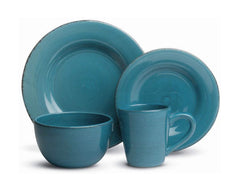 Tag - Sonoma 16-Piece Ironstone Ceramic Dinner Set, A Stylish Way to Bring Bold Color to Your Table, Turquoise