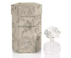 Zodax Mini Grand Casablanca Porcelain Diffuser, White Rose