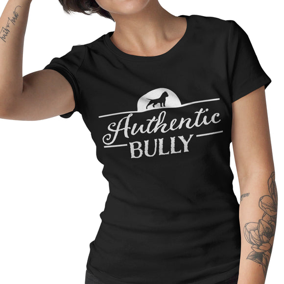 Authentic Bully® LogoWear Women's Light-weight Scoopneck T-Shirt - Authentic Bully