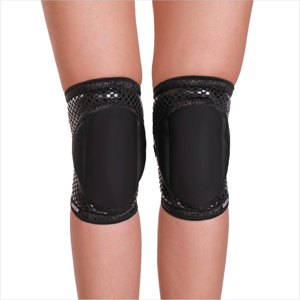 Queen Wear - Black Sparkle Grip Knee Pads