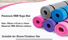 Load image into Gallery viewer, NBR Yoga Mats 10-17mm