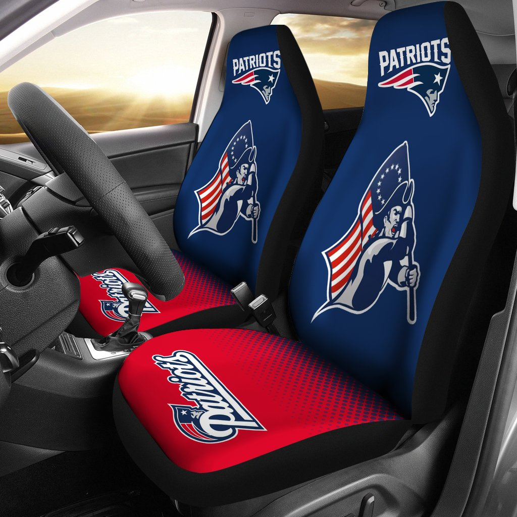 New England Patriots Car Seat Covers Set Of 2