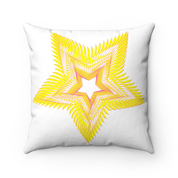 Star & Circle Spun Polyester Square Pillow