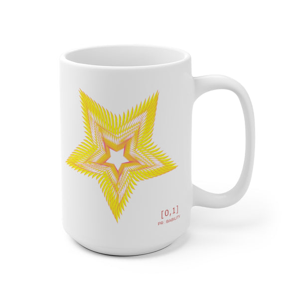 Star & Circle White Ceramic Mug