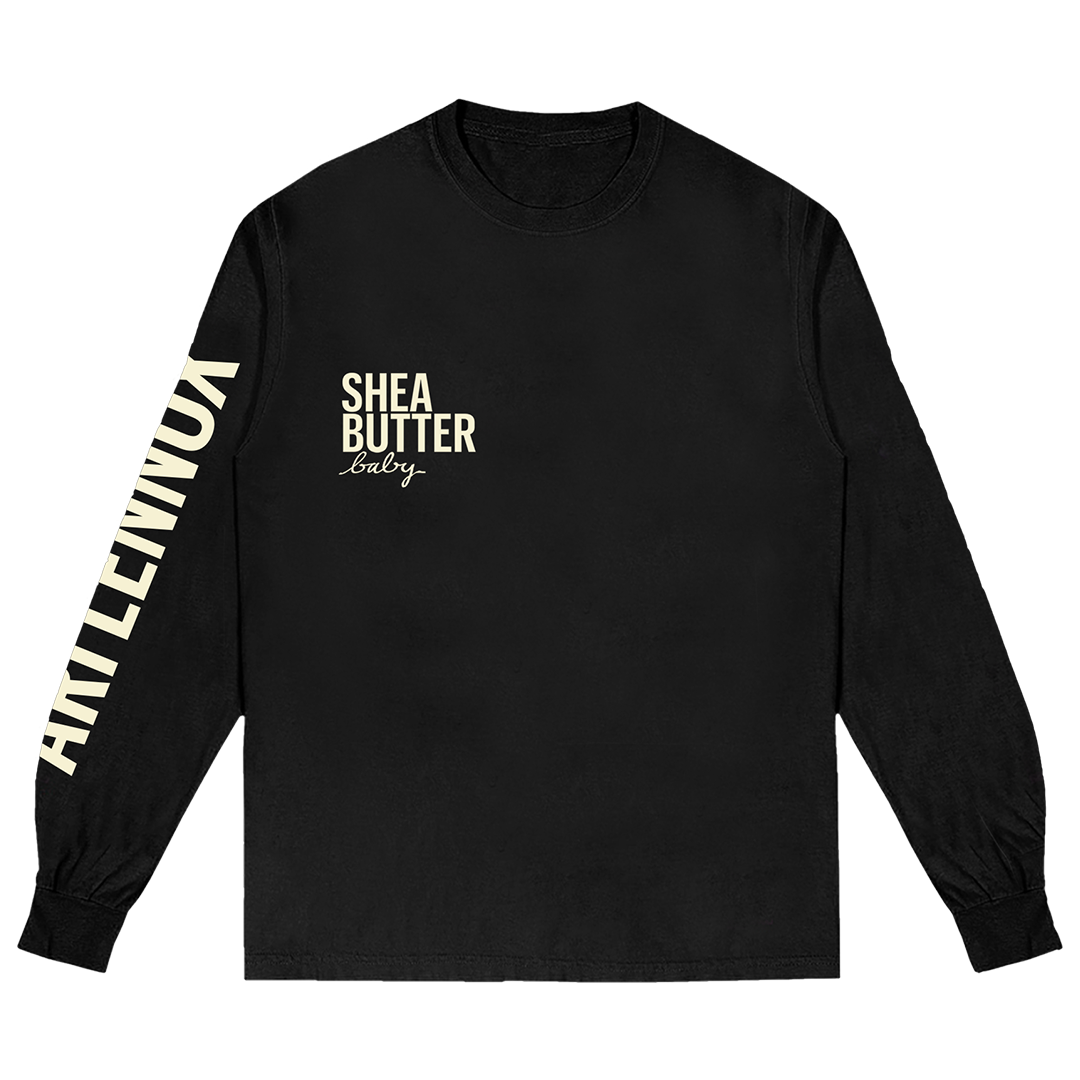 Ari Lennox Curl Pattern -  Long Sleeve - Black