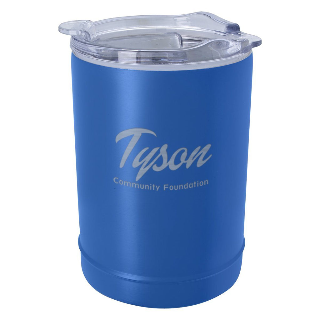 2-In-1 Copper Insulated Beverage Holder And Tumbler Leisure & Outdoor Hit Promotional Products Navy Blue