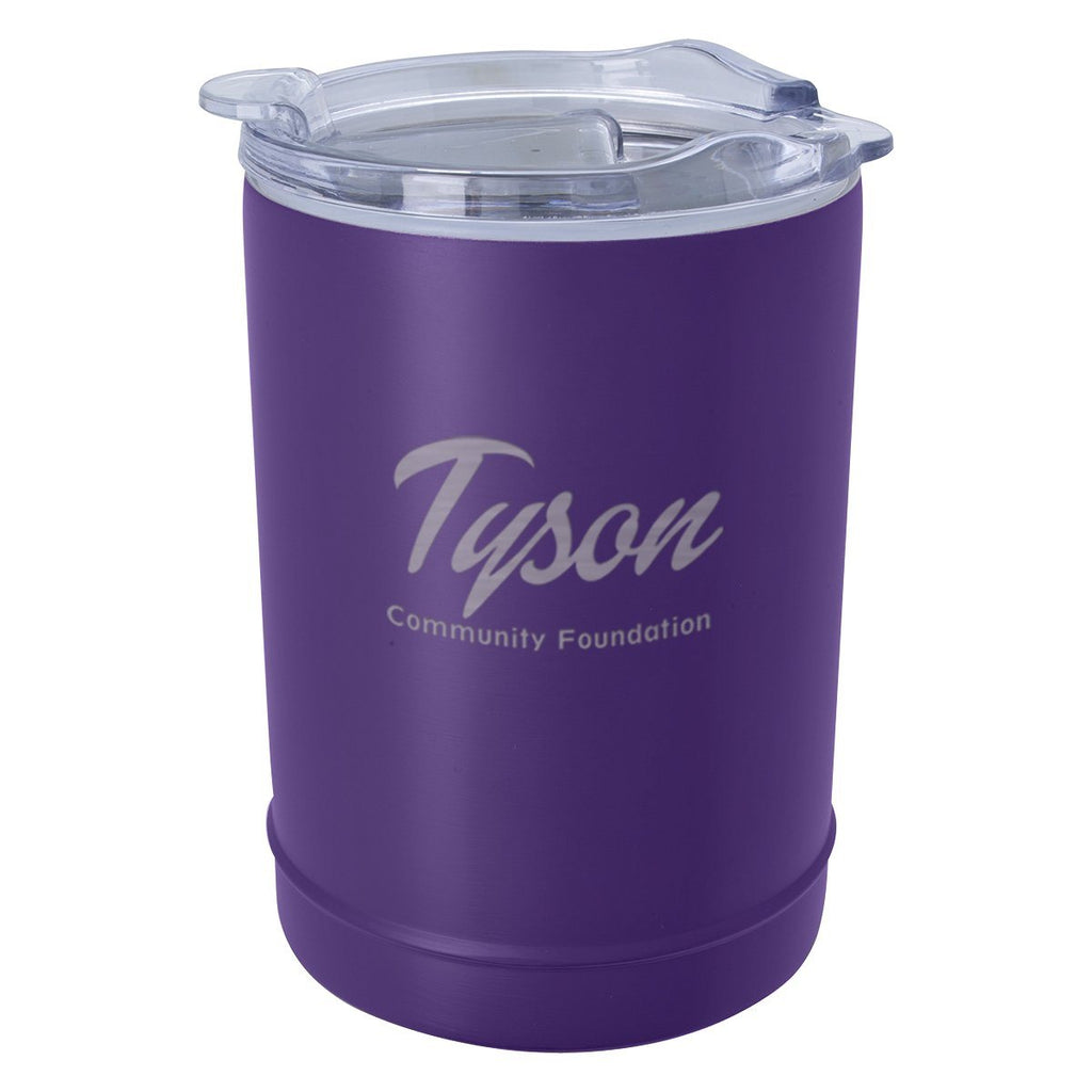 2-In-1 Copper Insulated Beverage Holder And Tumbler Leisure & Outdoor Hit Promotional Products Purple