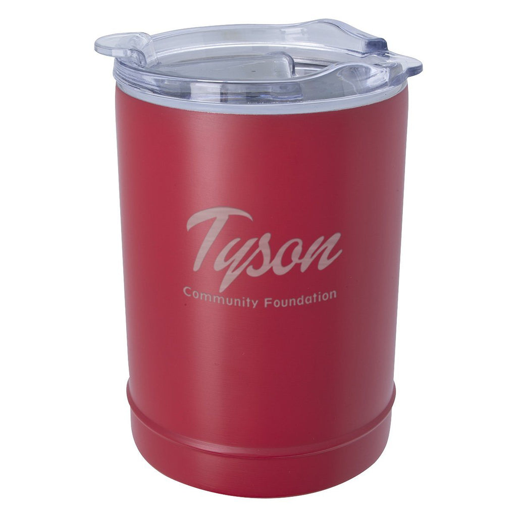 2-In-1 Copper Insulated Beverage Holder And Tumbler Leisure & Outdoor Hit Promotional Products Red