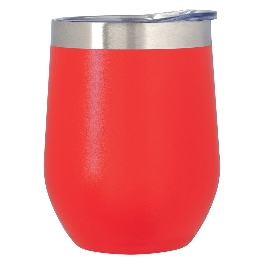 12 Oz. Vinay Stemless Wine Glass Drinkware Hit Promotional Products Red