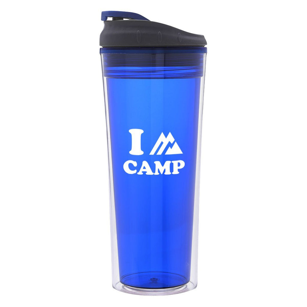 16 Oz. Sheer Tumbler Drinkware Hit Promotional Products Translucent Blue