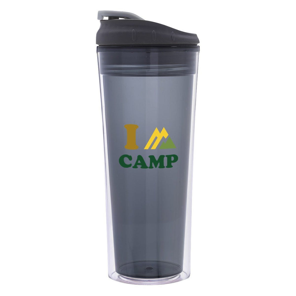 16 Oz. Sheer Tumbler Drinkware Hit Promotional Products Translucent Charcoal