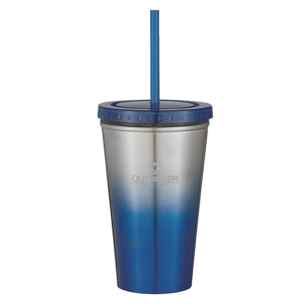 16 Oz. Chroma Stainless Steel Tumbler Drinkware Hit Promotional Products Blue