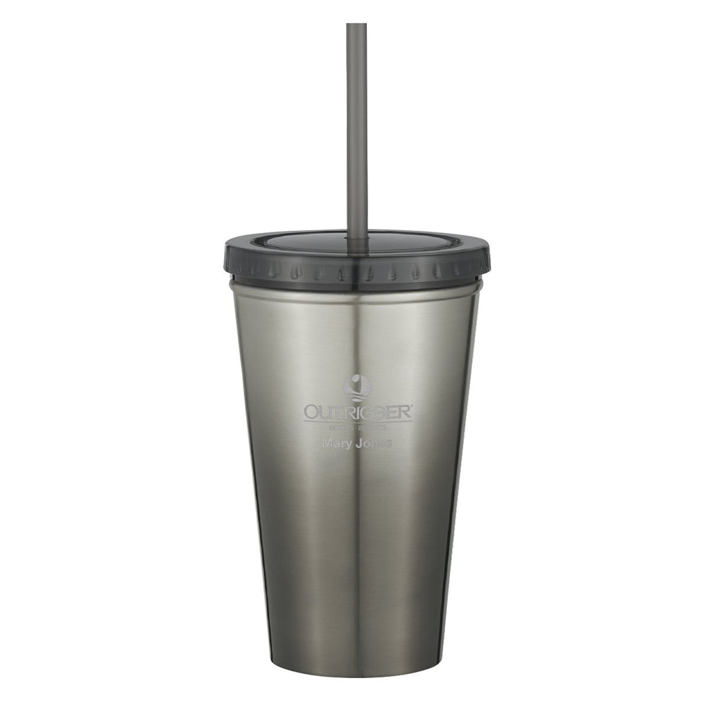 16 Oz. Chroma Stainless Steel Tumbler Drinkware Hit Promotional Products Charcoal