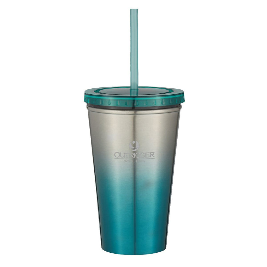 16 Oz. Chroma Stainless Steel Tumbler Drinkware Hit Promotional Products Teal