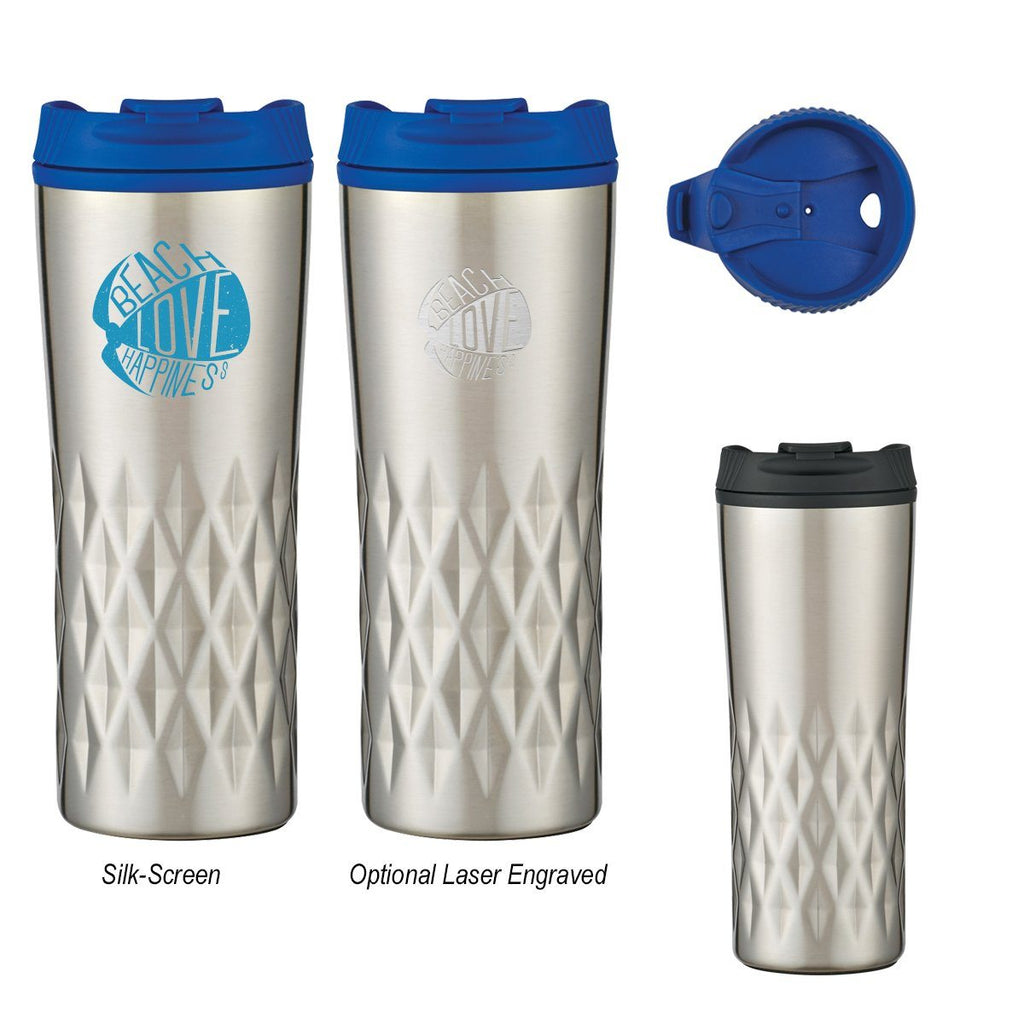 16 Oz. Diamond Stainless Steel Tumbler Drinkware Hit Promotional Products