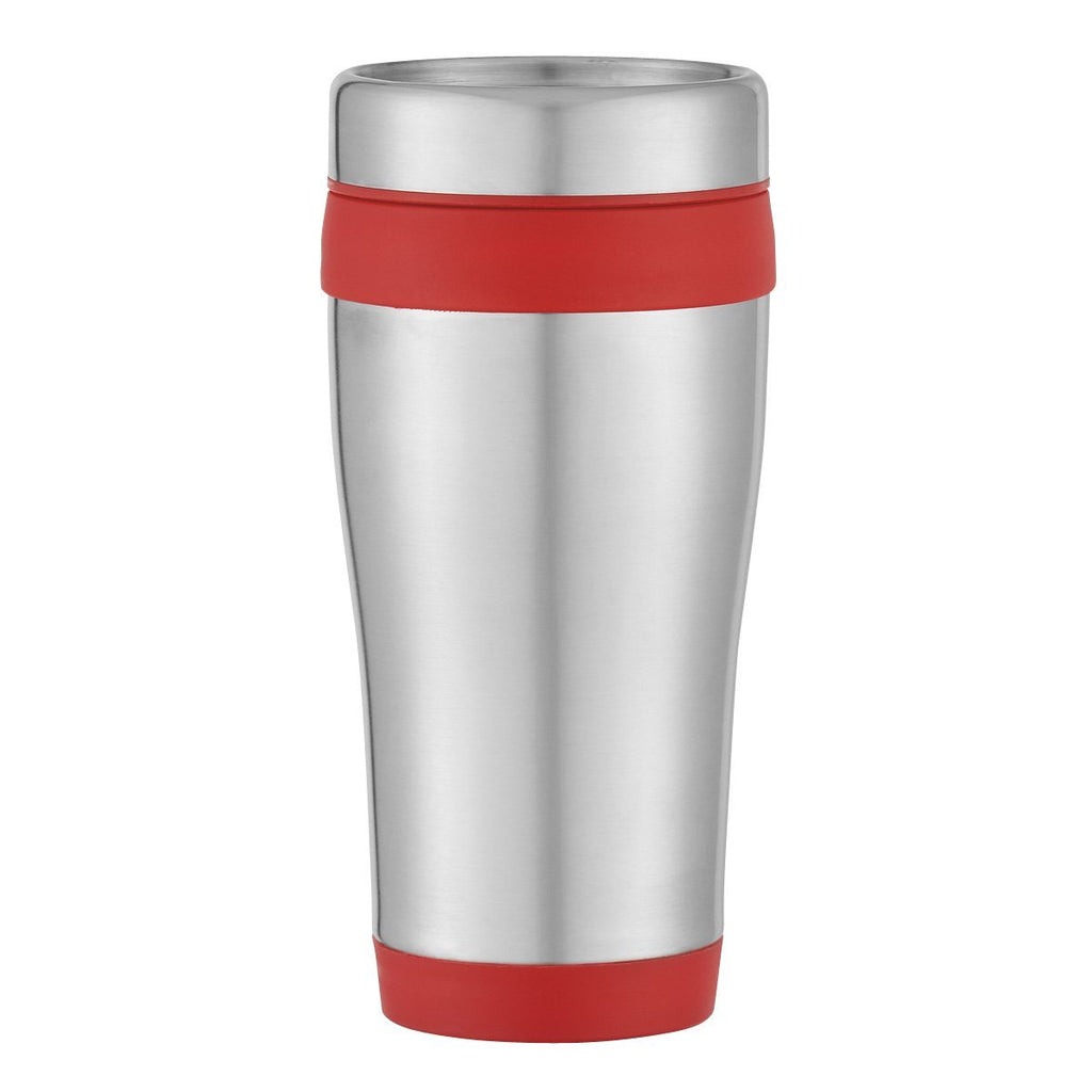 15 Oz. Aspen Stainless Steel Tumbler Drinkware Hit Promotional Products Silver With Black