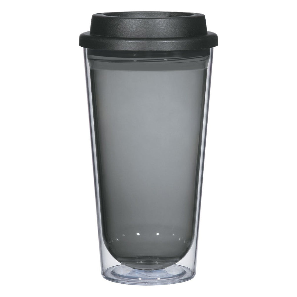 16 Oz. Echo Tumbler Drinkware Hit Promotional Products Clear With Charcoal