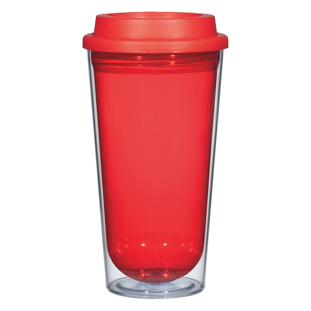 16 Oz. Echo Tumbler Drinkware Hit Promotional Products Clear With Red