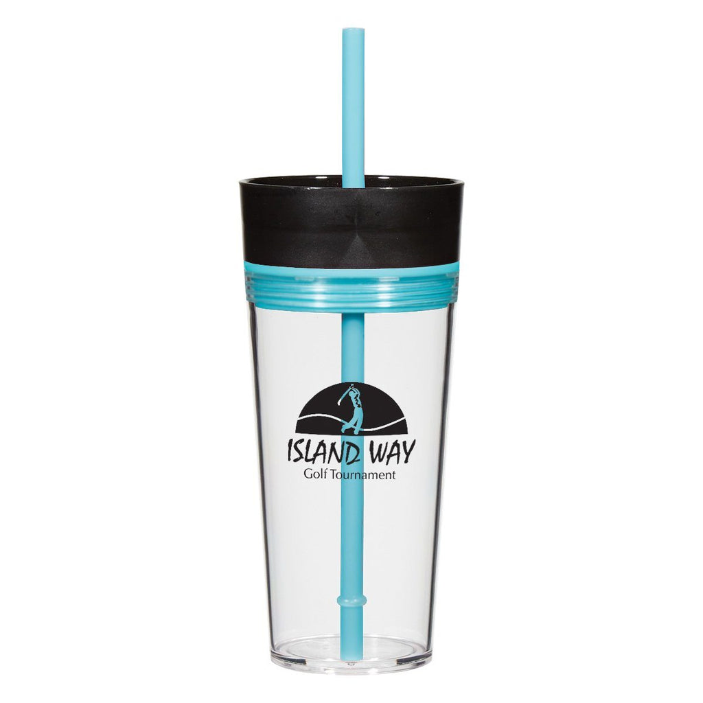 16 Oz. Aurora Tumbler Drinkware Hit Promotional Products Blue