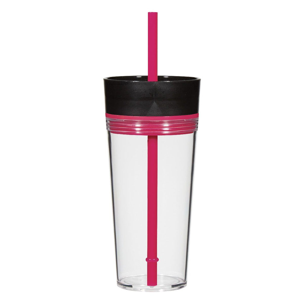 16 Oz. Aurora Tumbler Drinkware Hit Promotional Products Fuchsia