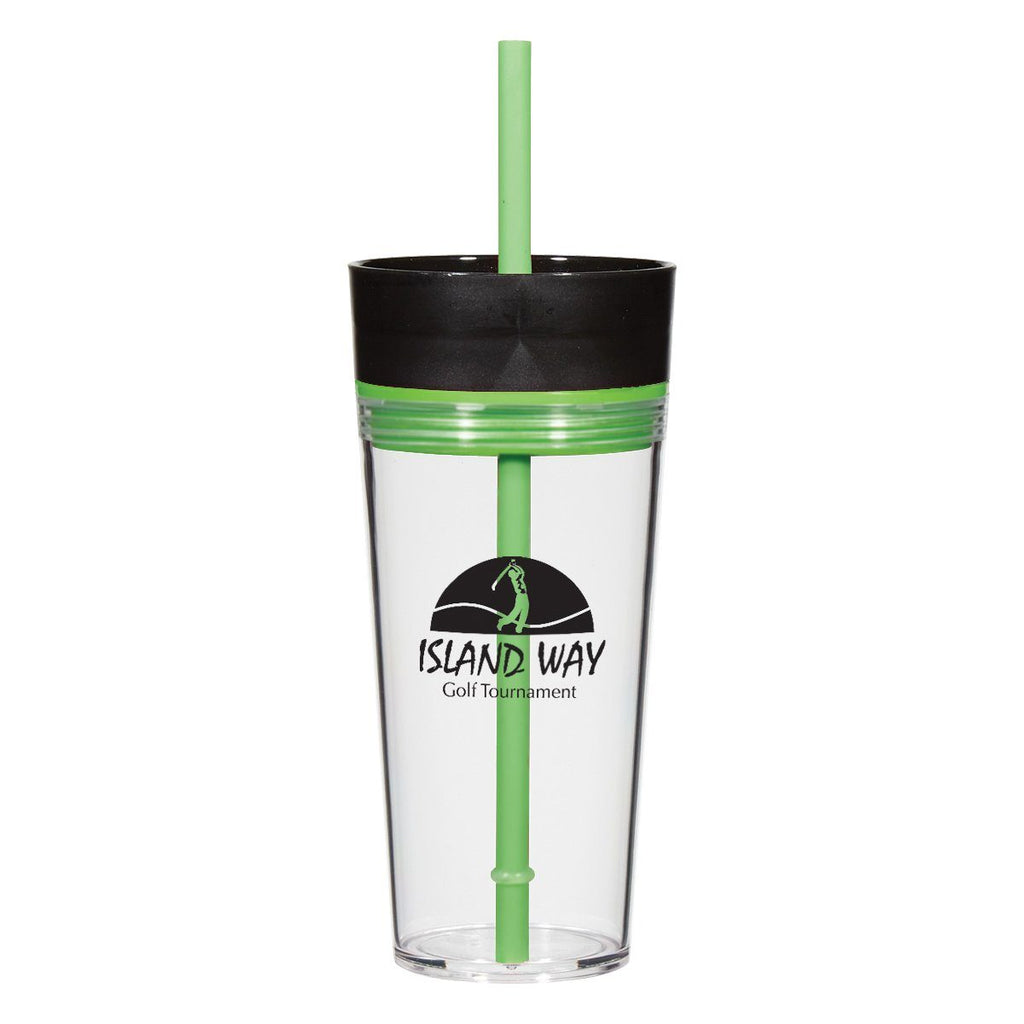 16 Oz. Aurora Tumbler Drinkware Hit Promotional Products Lime