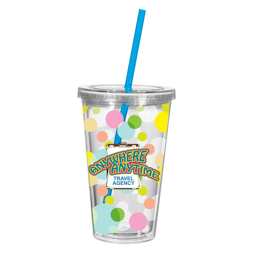 16 Oz. Newport Acrylic Tumbler With Insert Drinkware Hit Promotional Products Translucent Clear